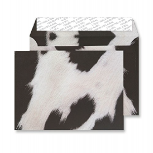 C5 Peel and Seal Envelopes - Friesian Cow Hide