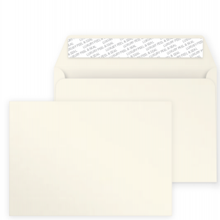 C5 Peel and Seal Envelopes - Pearlescent Ivory