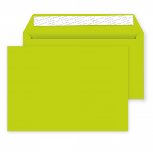 C5 Acid Green Peel and Seal Envelopes 120gsm (162mm x 229mm)