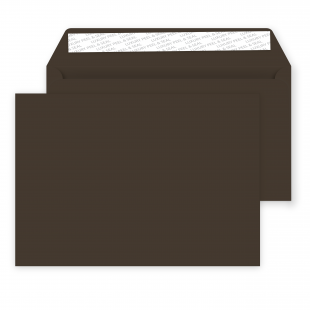 C5 Peel and Seal Envelope - 162mm x 229mm -Bitter Chocolate