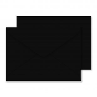 Luxury C5 Envelopes Black 100gsm