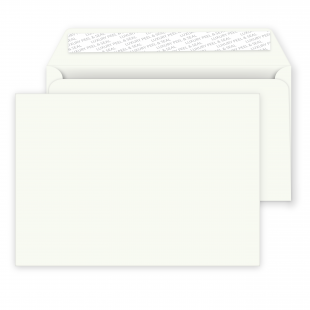 C5 Peel and Seal Envelopes - 162mm x 229mm -Chalk White