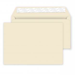 C5 Peel and Seal Envelopes - 162mm x 229mm -Clotted Cream