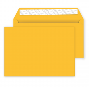C5 Peel and Seal Envelopes - 162mm x 229mm -Egg Yellow