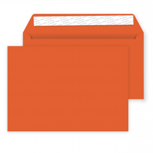 C5 Peel and Seal Envelopes - 162mm x 229mm -Marmalade Orange
