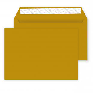 C5 Peel and Seal Envelopes - 162mm x 229mm -Metallic Gold