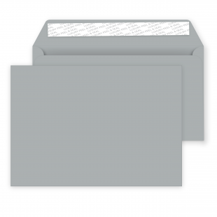 C5 Peel and Seal Envelopes - 162mm x 229mm -Metallic Silver