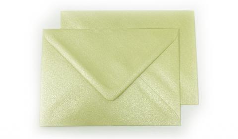 C6 Pearlised Grape Green (Amarillo) Envelopes (114mm x 162mm)