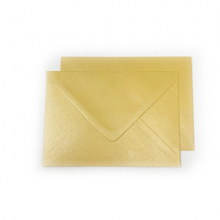 C6 Pearlised Mustard Gold (Amber) Envelopes
