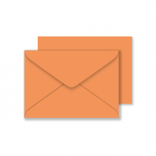 C6 Woodstock Arancio Envelopes 110gsm (114mm x 162mm)