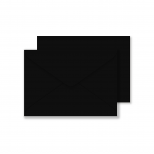 Luxury C6 Envelopes - Black 100gsm