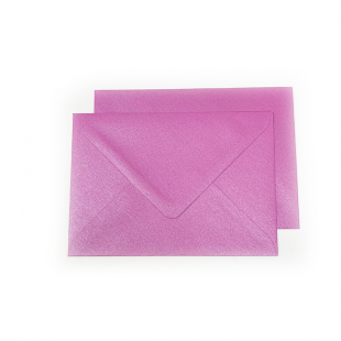C6 Pearlised Fuchsia Pink (Brilliant Rose) Envelopes (162mm x 114mm)