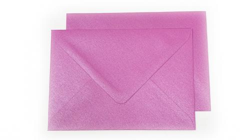 C6 Pearlised Fuchsia Pink (Brilliant Rose) Envelopes (162mm x 114mm)