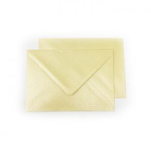 C6 Pearlised Buttercream (Cream) Envelopes (162mm x 114mm)