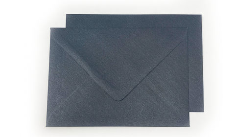 C6 Pearlised Charcoal Black Envelopes (114mm x 162mm)