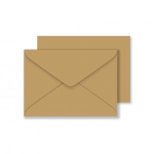 Essentials C6 Fleck Kraft Envelopes
