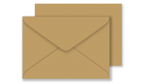 Essentials C6 Fleck Kraft Envelopes 100% Recycled
