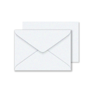 C6 Ice White Sirio Pearl Envelopes 125gsm