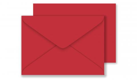 C6 Sirio Colour Lampone Envelopes 115gsm