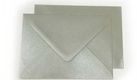 C6 Pearlised Mercury Silver (Mercury) Envelopes (114mm x 162mm)