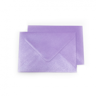 C6 Pearlised Periwinkle Purple Envelopes (114mm x 162mm)