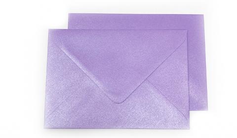 C6 Pearlised Periwinkle Purple Envelopes (114mm x 162mm)