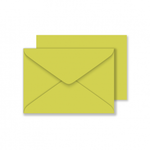 C6 Woodstock Pistacchio Envelopes 110gsm (114mm x 162mm)