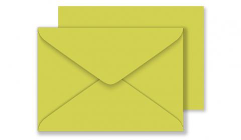 C6 Woodstock Pistacchio Envelopes 110gsm (114mm x 162mm)