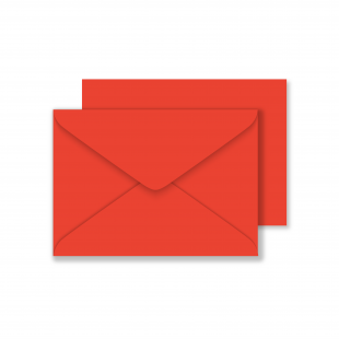 Luxury C6 Envelopes - Poppy Red 100gsm