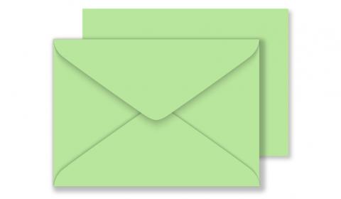 C6 Woodstock Verde Envelopes 110gsm (114mm x 162mm)
