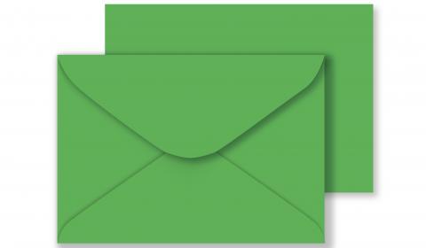 C6 Xmas Green Envelopes 100gsm (114mm x 162mm)