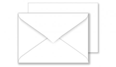 Essentials C6 White Envelopes