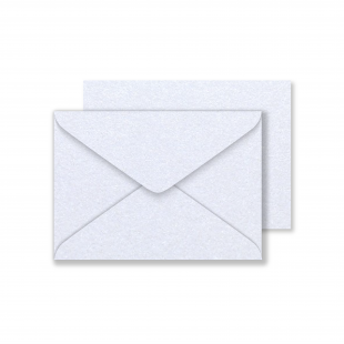 Luxury C6 Snow White Pearlised Envelopes 120gsm