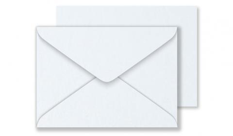 Luxury C6 Envelopes - Pearlised Ultra White