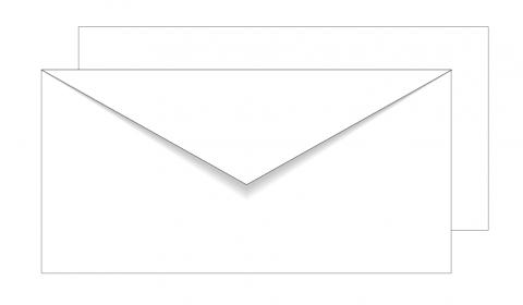 Essentials White DL Envelopes