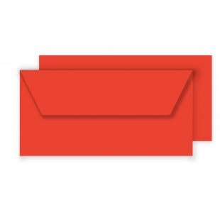 Luxury DL Envelopes - Poppy Red 100gsm
