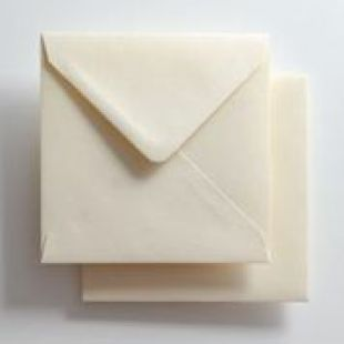 Luxury Square Envelopes - Pearlised Ivory