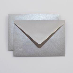 Lustre Print Royal C6 Envelopes - Pearlised Titanium