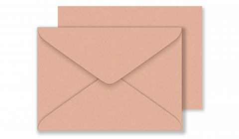 C6 Pearlised Light Brown (Bisque) Envelopes