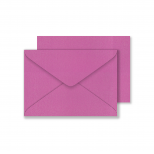 Lustre Print C6 Envelopes - Pearlised Brilliant Rose