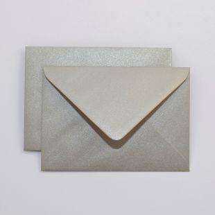 Lustre Print Silver C6 Envelopes - Pearlised Mercury
