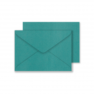 Lustre Print C6 Envelopes - Pearlised Forest Green