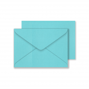 Lustre Print C6 Envelopes - Pearlised Sea Blue