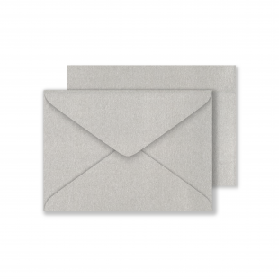 Lustre Print C6 Envelopes - Pearlised Titanium