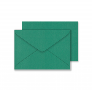 Lustre Print C6 Envelopes - Pearlised Xmas Green