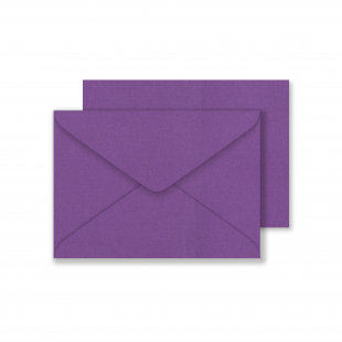 Lustre Print C6 Envelopes - Pearlised Boysenberry
