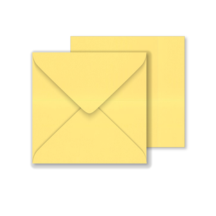 Lustre Print Square Envelopes - Pearlised Amarillo