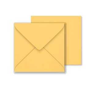 Lustre Print Square Envelopes - Pearlised Amber