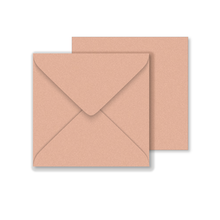 Lustre Print Square Envelopes - Pearlised Bisque