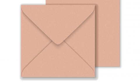 Square Pearlised Light Brown (Bisque) Envelopes